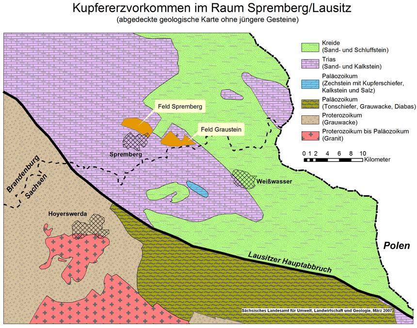 Lausitz Karte.Kupfererzvorkommen In Der Sachsisch Brandenburgischen